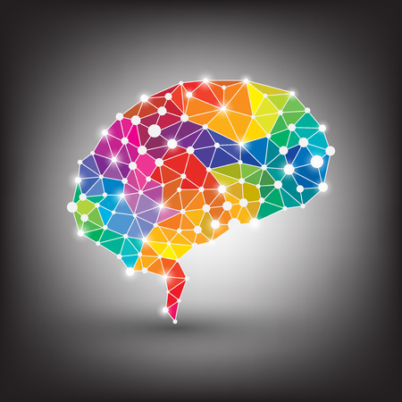 colorful concept of the human brain vector