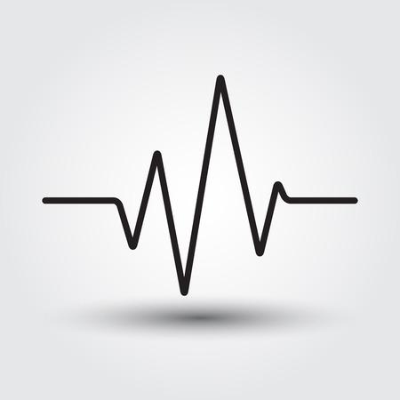of electrocardiogram: Electrocardiogram, ecg or medical icon vector