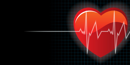 first rate: heart and heartbeat background vector