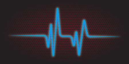 heart ecg trace: vector illustration of a cardiac frequency background Illustration