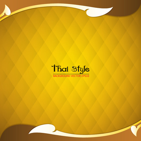 thai style: pattern thai style background, vector Illustration Illustration