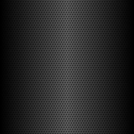 metal pattern: abstract dark hexagonal geometric background, vector illustration Illustration