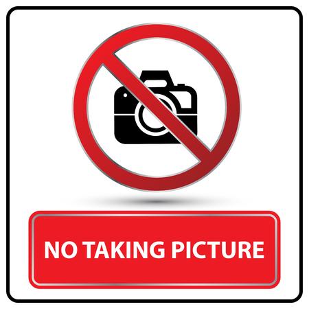 geen foto nemen illustratie teken vector