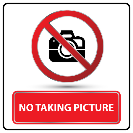 taking picture: no taking picture sign illustration vector