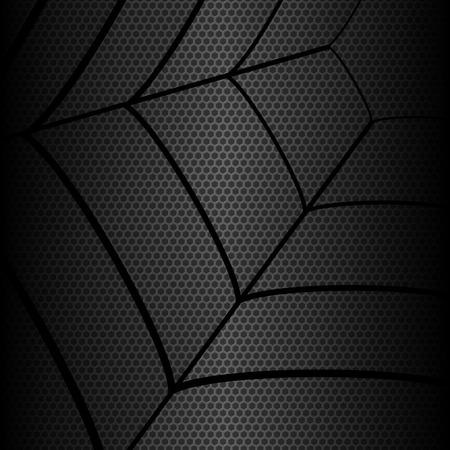 gossamer: Gossamer structures metallic hexagon background, vector illustration Illustration