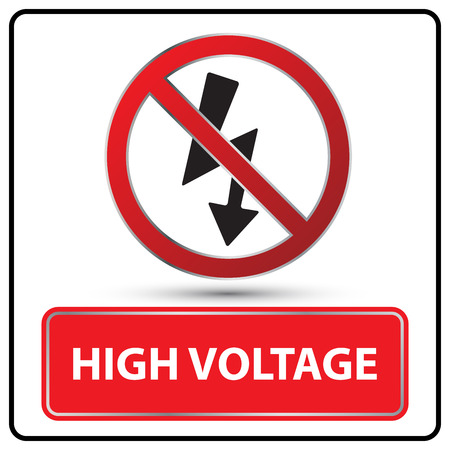 high voltage sign: high voltage sign vector illustration
