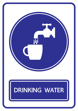 drinking water sign: drinking water sign and symbol vector illustration