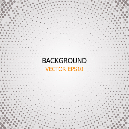 gray: circle dotted, gray background vector