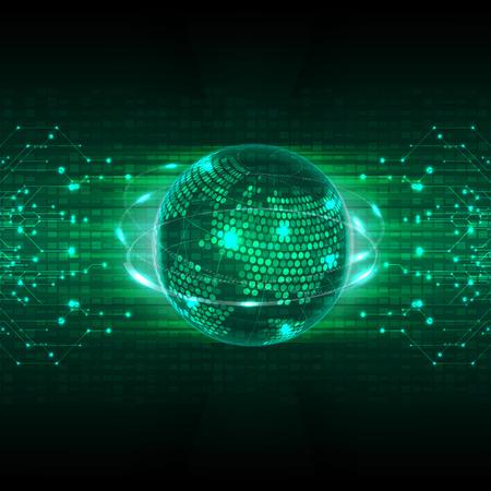 抽象的な未来技術の概念の背景のベクトル