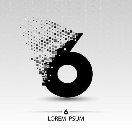 number six: Number six  vector design illustration Illustration