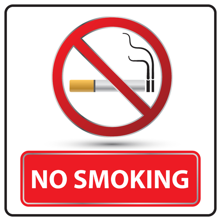 pernicious habit: no smoking danger signs Illustration vector