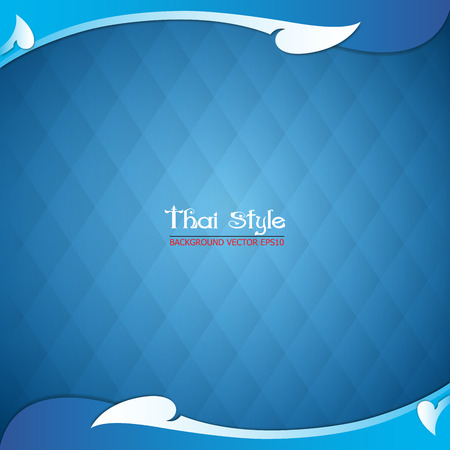 Thai style: pattern thai style and blue background, vector Illustration