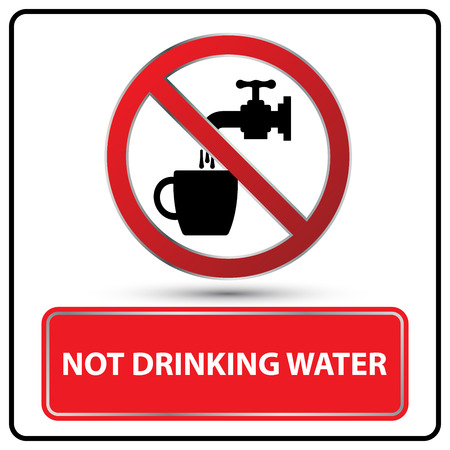 drinking water sign: not drinking water sign Illustration vector