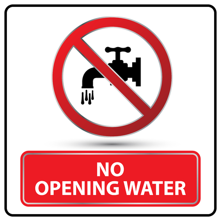 no opening water danger signs Illustration vector Illustration
