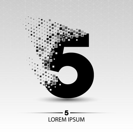 Numero design illustrazione vettoriale cinque