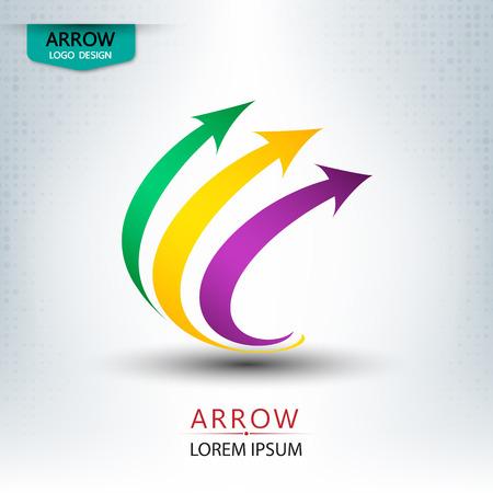 arrow concept icon design round shape illustration