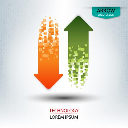 arrow design up and down vertical shape illustration