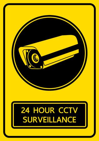 cctv security: CCTV security camera sign illustration