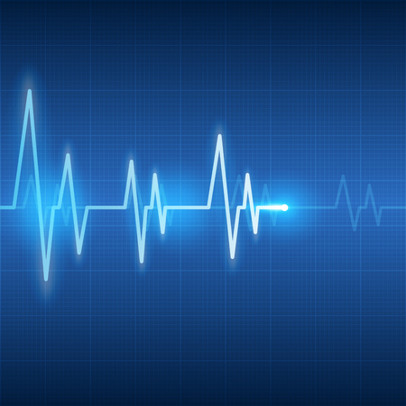 pulse trace: heart beats on healthcare and medical abstract background illustration Illustration