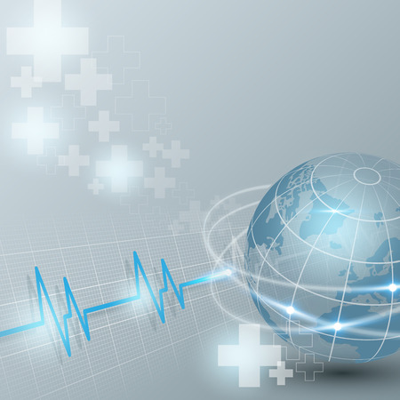 world of medical on healthcare and background vector illustration
