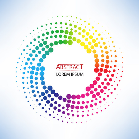 abstract doted curve shaped and colorful twist shape vector illustration