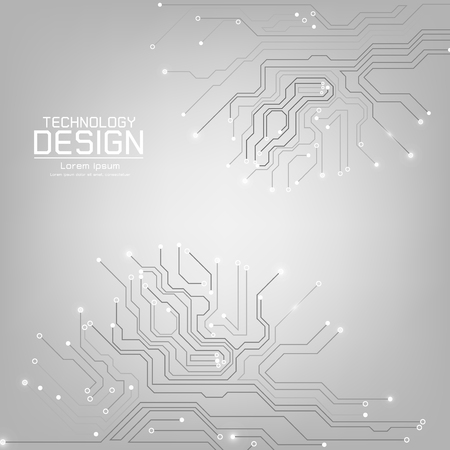 abstract technology vector with a circuit board texture, on the gray background illustration