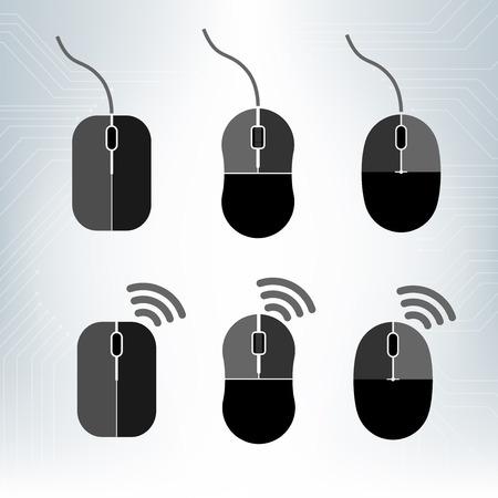 Different computer mouses design. Çizim