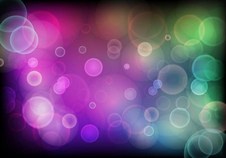 カラフルなぼかし円光の抽象的な背景のベクトル図