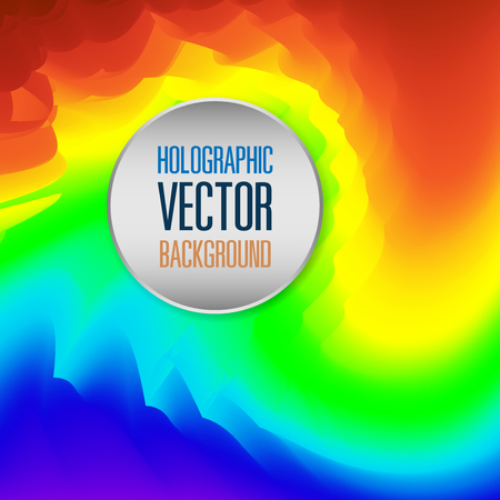 Abstract holographic vector background illustration