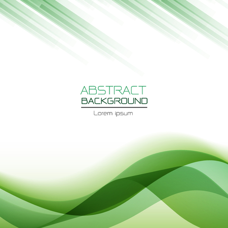 abstract background green wave overlapping vector illustration