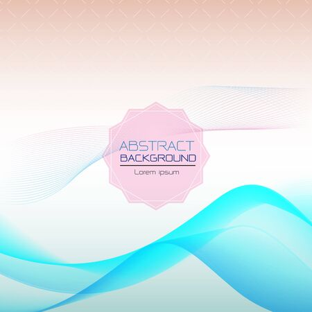 abstract pink wave overlapping vector background illustration Vettoriali