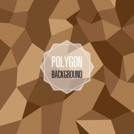 Abstract brown polygon background design vector illustration