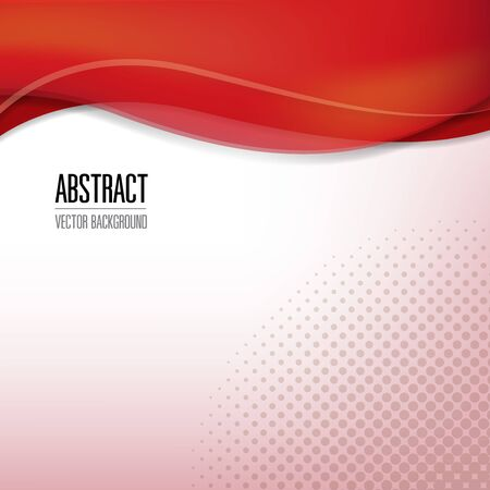 abstract red background with place for text, vector illustration