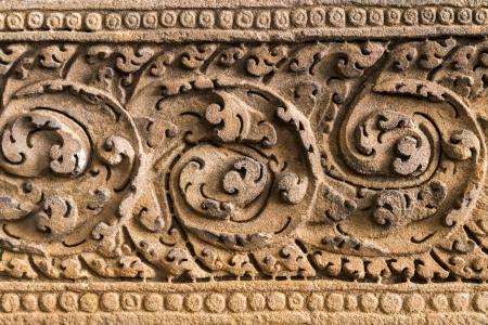lintel: An ancient lintel Stock Photo