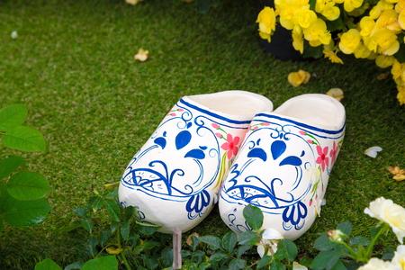 margaritas: Shoe vase in a garden