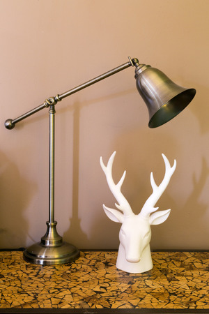 A table lamp in a hotel Stock Photo