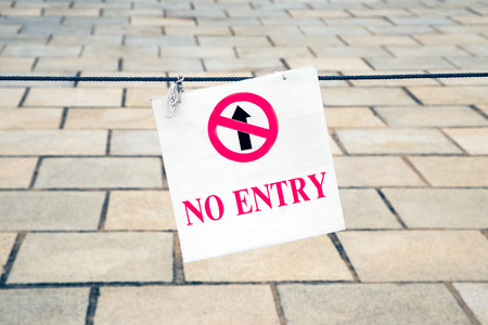 Do not entry sign photo