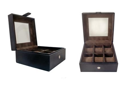 watch box isolated on white background photo