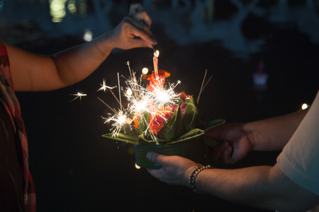 Lighting : Loy Kratong festival in Thailand
