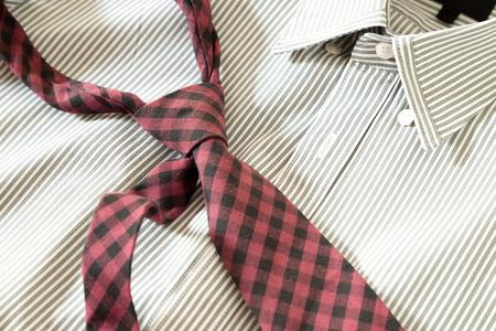 necktie on shirt photo