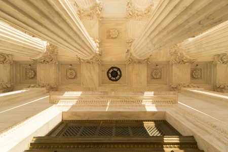 capital building: Ceiling Front terrace of the Supreme Court of U.S.