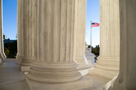 Front terrace of the Supreme Court of U.S. Stockfoto