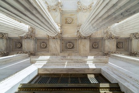 Column of Supreme Court of U.S. Foto de archivo