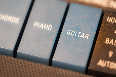 octaves: Text GUITAR Stock Photo