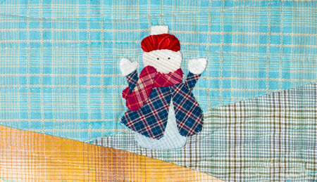 homespun: Quilt : Happy Snow Girl