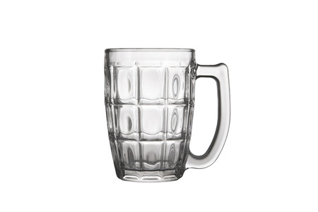 bar ware: Beer glass isolated on white background