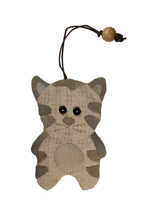 avocation: Quilt : Key cover cat (Brown) isolated on white background