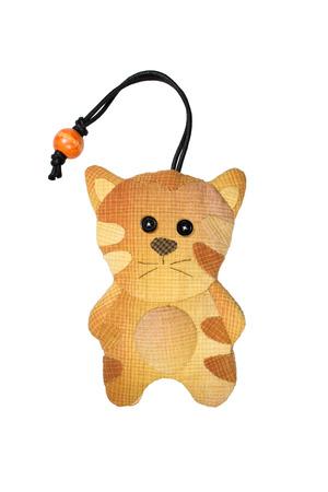 avocation: Quilt : Key cover cat (Orange) isolated on white background Stock Photo
