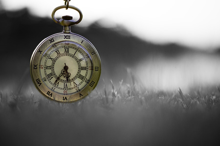 pm: Pocket watch (Sepia) Stock Photo