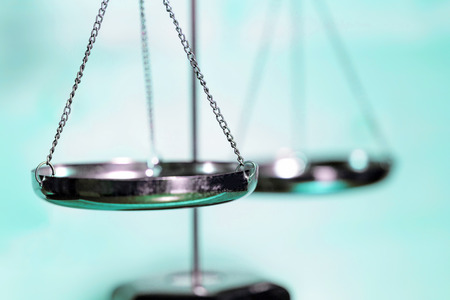 Scale of justice (Blue tone) Stock Photo